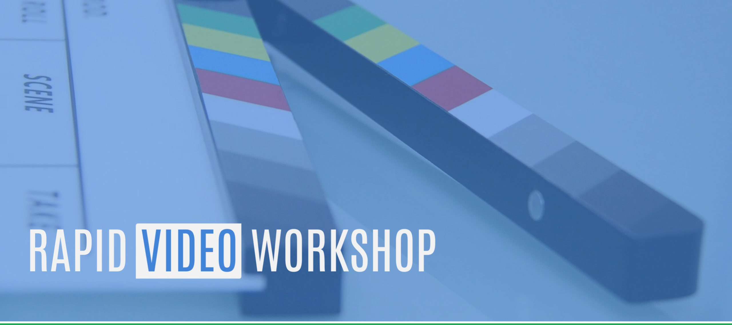 Rapid Video Workshop with Jonathan Halls